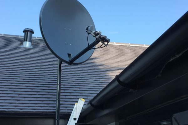 Multi Feed Satellite Dish Supplied and Installed in Stanmore, Harrow, London. SatFocus