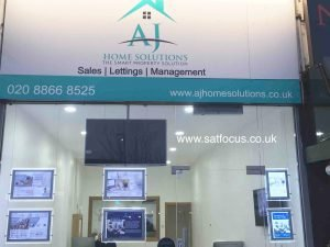 Estate Agents Display Installed in Harrow, London. SatFocus