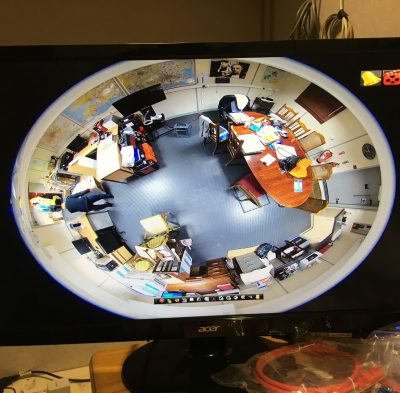 Hikvision Fisheye Camera Installed in office in Acton, London. SatFocus