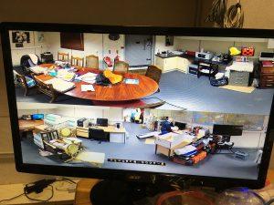 Hikvision Fisheye Camera Installed in office in Acton, London. SatFocus