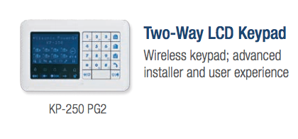 Visonic Two way wireless keypad