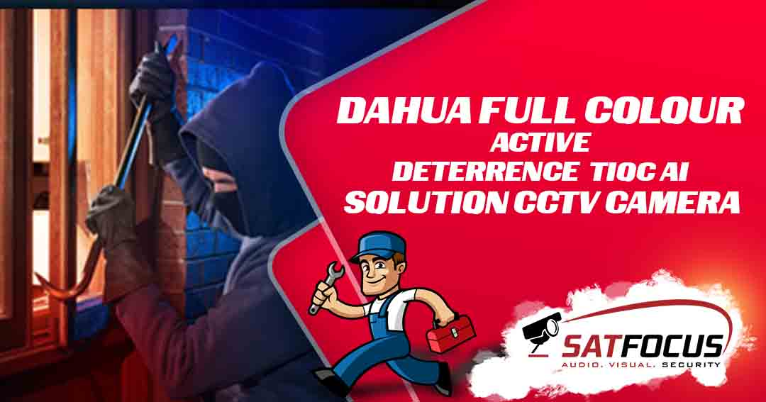 Dahua Full Colour Active Deterrence TiOC AI Solution CCTV Camera