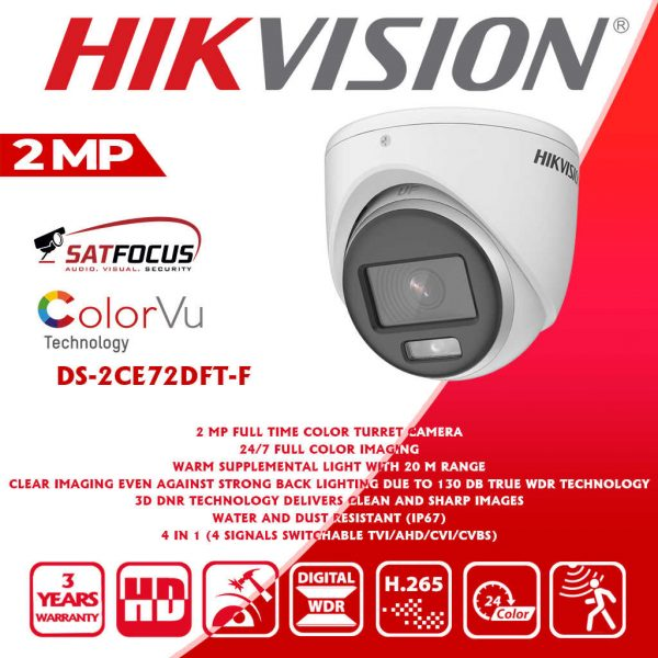 HIKVISION IP 2MP ColorVu CCTV Security Camera package
