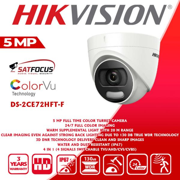HIKVISION IP 5MP ColorVu CCTV Security Camera package