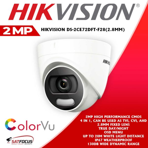 HIKVISION HD 2MP ColorVu CCTV Security Camera package